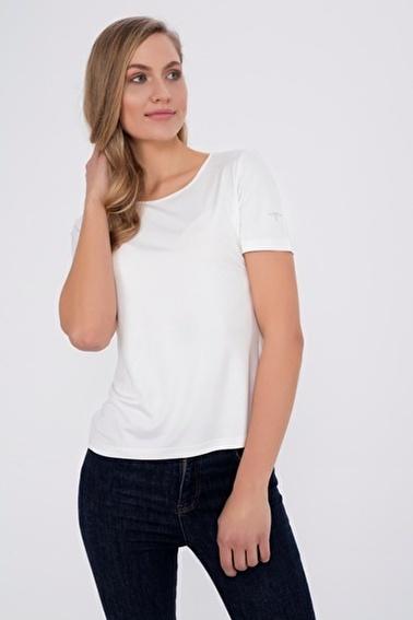 Silk and Cashmere Tişört Beyaz